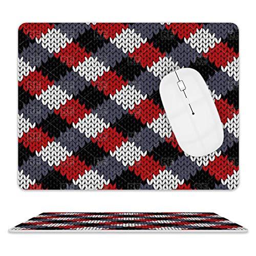 Alfombrilla de ratón de piel de color rojo, negro, gris, blanco, para escritorio y portátil, 25 x 20 x 2 cm.