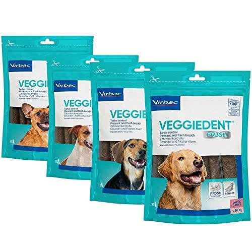 Virbac VeggieDent Kaustreifen für mittelgroße Hunde (10 bis 30 kg) - 15 Streifen