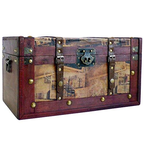 De lujo de gran caja de almacenamiento de madera de madera Tronco - idea de regalo para el...
