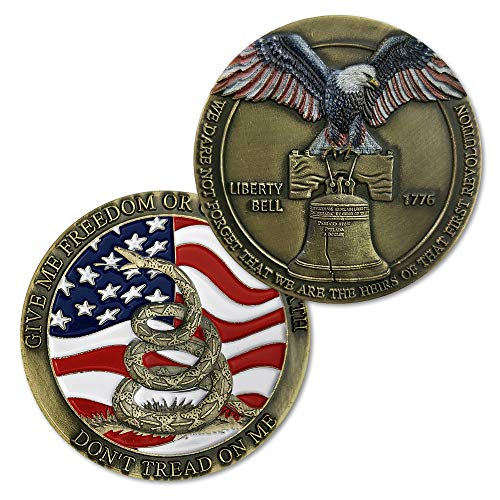 Don't Tread on Me Challenge Coin US Liberty Bell Military Coin