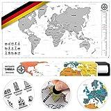 #benehacks Weltkarte Zum Rubbeln in Deutsch -