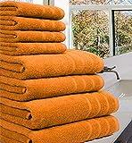 Conjunto de toallas de lujo 100% algodón. Juego de 8 piezas de 550 g / m².
