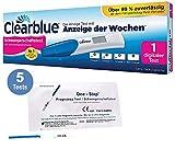 Vorteilspack - Clearblue Schwangerschaftsfrühtest mit Wochenbestimmung, eindeutige digitale Ergebnisse + 5 x OneStep Frühtests 10 miu/ml