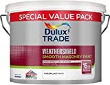 Dulux Trade Weathershield Smooth Masonry Paint Pure Brilliant White 7.5 Litres