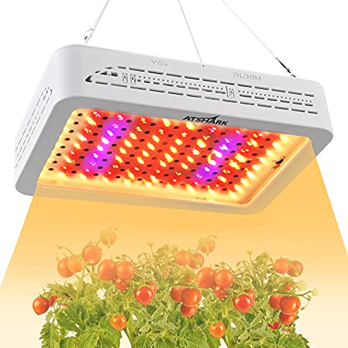 Led Grow Lights, 1000W Grow Light for Indoor Plants with Full Spectrum, Energy Efficient Grow Light for Hydroponics,3.5ftx3.5ft Coverage, Double Switchs(Actual Power 100W)