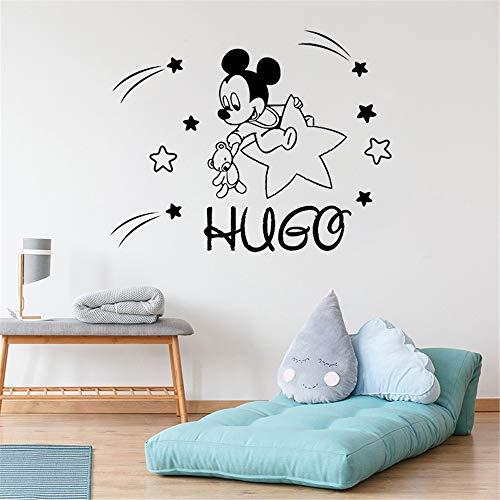 pegatina de pared 3d Etiqueta de la pared de Mickey Mouse Decal Nombre