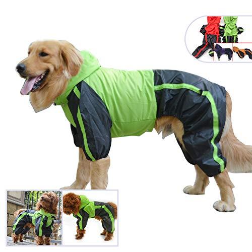 Manteau de pluie Longlongpet - Imperméable - Pour chiens de petite, moyenne et grande taille - Costume adorable à capuche