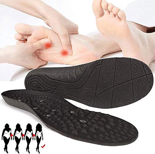 ZXCVB Plantilla Ortopédica Acupresión Soporte de Arco Alto Plantillas Magnéticas para Masaje con 68 Imanes,Plantillas Magnéticas para Adelgazar Plantillas para Zapatos 2Pair-S(35-41)