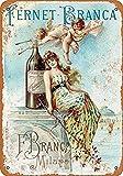 TammieLove Fernet-Branca Liqueur Vintage Retro Agua Decoración de Pared Metal Señal de Advertencia 8 x 12 Pulgadas