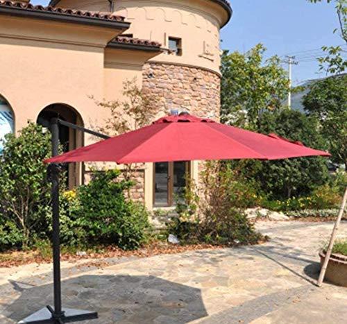Sonnenschirme Cantilever Garten Gartenschirm, Banane Hänge Regenschirm, Kurbel for Öffnen, Schließen, Schwenk, Sonnenschutz mit Schutz UPF 50+ (Color : A)