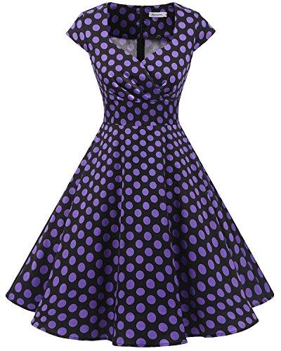 Bbonlinedress Vestido Corto Mujer Retro Años 50 Vintage Esc