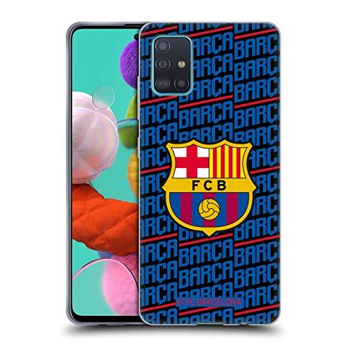 Head Case Designs Offizielle FC Barcelona Barca Wappen Muster Soft Gel Huelle kompatibel mit Samsung Galaxy A51 (2019)