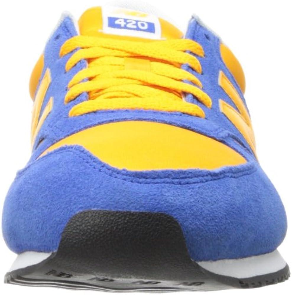 Amazon.com | New Balance Men's 420 V1 Sneaker, Blue/Yellow, 4 D US ...