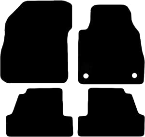 Carsio Tailored Black Carpet Car Mats for Mokka 2012 onwards Piece Set With Clips