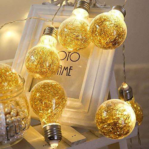 WANGXB Guirlande Lumineuse,Guirlande Lumineuses Boules,Romantique Guirlande LED. Intérieur Extérieur Lampe Décoration Arbre de Noël Maison Mariage Halloween Bar.