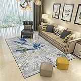 Alfombras alfombras Salon Pelo Corto Alfombra Antideslizante de la Sala de Estar con diseño de Tinta Abstracta Gris Amarillo Azul moqueta para el Suelo Alfombra niño 180*250cm