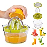 Manual Juicer,Vsweet Citrus Lemon Orange Hand Squeezer with Built-in Measuring Cup and Grater...