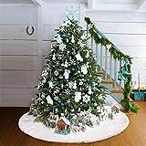 Queta Falda Árbol de Navida. Manta redonda para árbol de Navidad ,Falda de árbol para Fiesta de...
