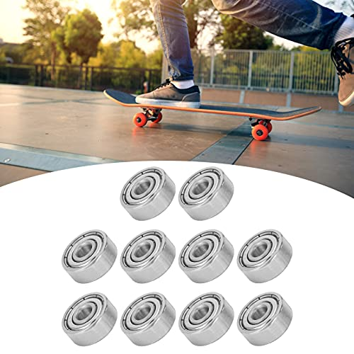 Rodamientos de bolas, lubricante S624ZZ ahorrado 10PCS 5x13x5mm Rodamiento para patines en línea para patines de ruedas para longboards