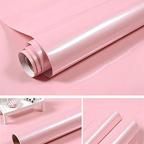 LKOIU oliebestendige stickers - zelfklevend papier, keramische tegels, muurstickers, behangkast Roze parelglans