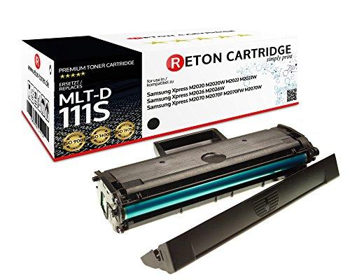 Original Reton Toner | 200 Prozent mehr Druckleistung | kompatibel zu Samsung MLT-D111S D111S für Samsung Xpress M2020 M2020W M2022 M2022W M2026 M2026W M2070 M2070F M2070FW M2070W