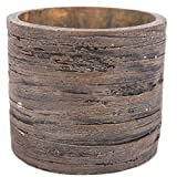 Swan Creek 10 Ounce - Roasted Espresso - American Soybean Wax Candle in Weathered Wood Round Resin Pottery
