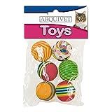 Arquivet Pelota multicolor - juguetes pelotas gatos - 3,5 cm (bolsa 6 uds.)