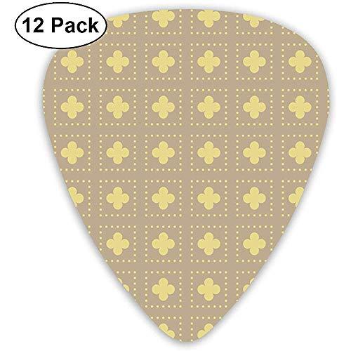 Set di 12 confezioni regalo completo per chitarrista in tessuto oro Tudor rose ritagliato