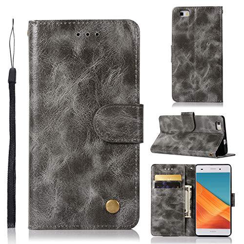 J&H - Funda para Huawei ALE-L21 (5,0 pulgadas), diseño vintage de piel sintética con cierre magnético, para Huawei ALE-L21