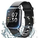 スマートウォッチ スマート腕時計型 smart watch 活動量計 歩数計 ストップウォッチ Bluetooth5.0 着信/SMS通知 GPS運動記録 目覚まし時計 IP68防水 最長連続7日間使用可能 日本語アプリ iPhone&Android使用でき(日本語取扱説明書)