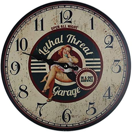 Beautiful CAR Lovers Garage Themed Wall Clock Shabby Chic Perfect d cor Item for a Man cave product image