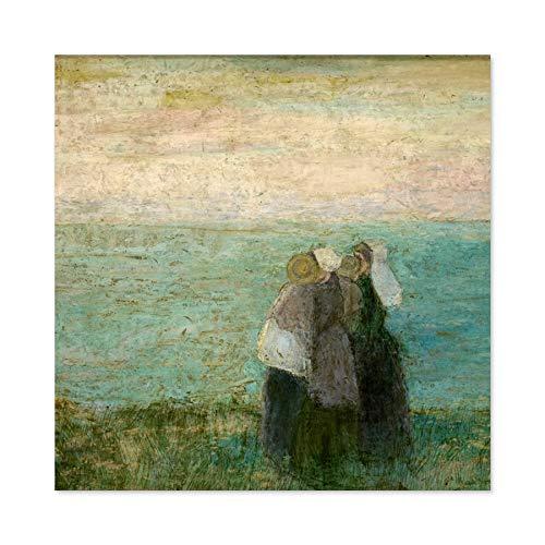 Toorop Vrouwen Op Zee Zeegezicht Schilderen Grote Muur Kunst Poster Print Dikke Papier 24X24 Inch