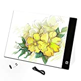 quanjucheer A4 LED dibujo tableta gráfica Junta, Junta copia almohadillas pintura Digital Tablet Non-dimmable blanco