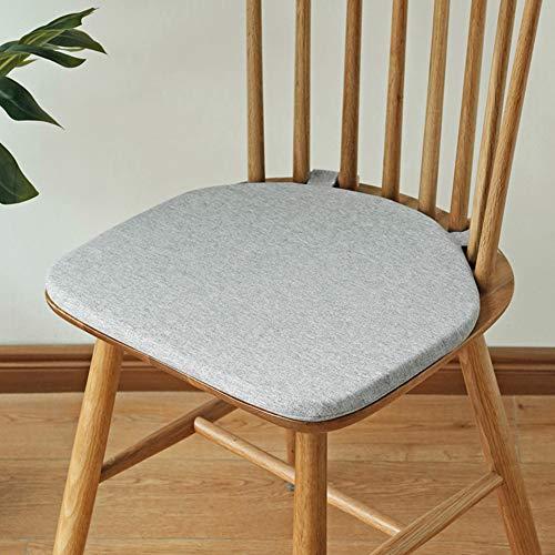 QIAOTT Windsor Stuhlkissen,Dining Chair Kissen rutschfest Zurück Sitzpad Holzbolzen Befestigung Einfarbig-a 42x38cm(17x15inch)