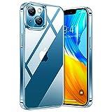 TORRAS Diamond Clear für iPhone 13 Mini Hülle Transparent (Vergilbungsfrei) Handyhülle 13 Mini Hülle Unzerstörbar Harte Rückseite & Stoßfest Silikon Bumper Schutzhülle iPhone 13 Mini Hülle - Klar