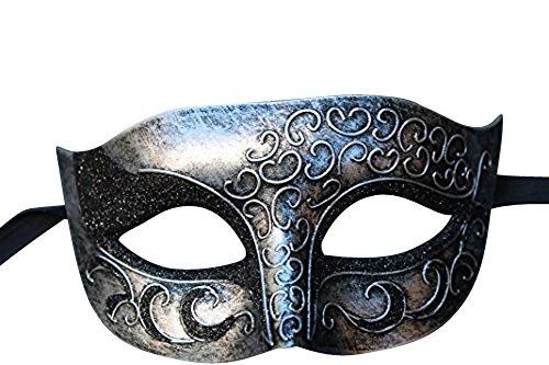 The Good Life Vénitien Masque de Mascarade Partie Masque des Yeux Noir et Argent