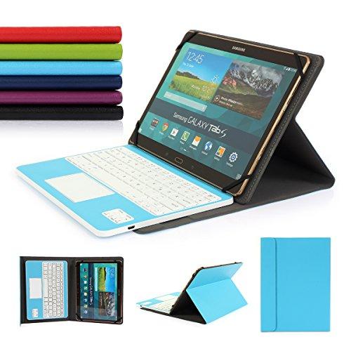 CoastaCloud- Nueva Bluetooth 3.0teclado Funda para Samsung Galaxy Tab Pro 10,1Tablet con teclado extraíble de QWERTZ Alemania disposición y Touchpad–Compatible con 10.1pulgadas cualquier Android/Windows TABLET azul claro