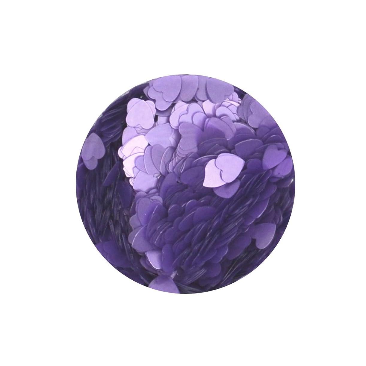 垂直ムスタチオグラフ高品質ホログラム ハート形 パステルカラー【パープル】