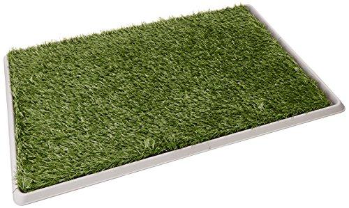 Fancy Pets Doggie Grass – Tapete entrenador de pasto sintético, tamaño grande, 76 x 50 cm