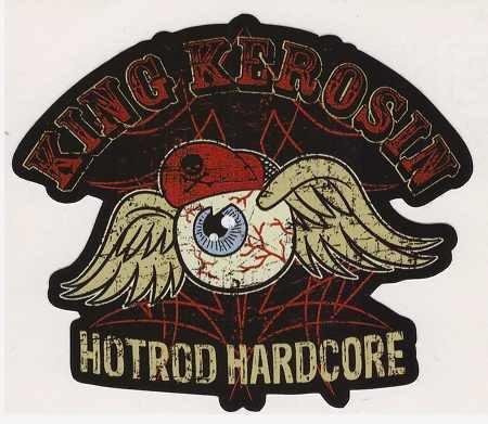 King Kerosin Aufkleber Hotrod Sticker Rockabilly Oldschool Biker Motorrad Tuning JDM Racing