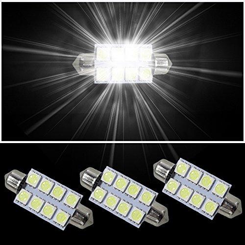 muchkey 8x SMD Intrieur Festoon C10W LED Ampoule pour Transporter T5bus-van 3Blanc 42mm
