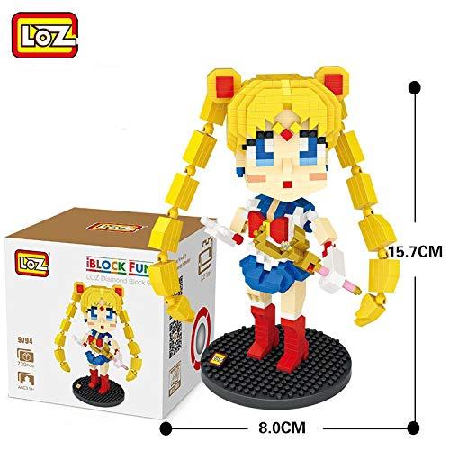 Outletdelocio. LOZ 9794. Kit de construccion miniaturizada. Sailor Moon. 730 Piezas