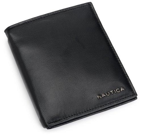 Nautica Men's Credit Card Organizer Wallet,Black,