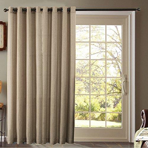 Furniture Fresh - Burlap Look - Blackout Thermal Faux Linen- One Patio Panel (102x84, Beige)