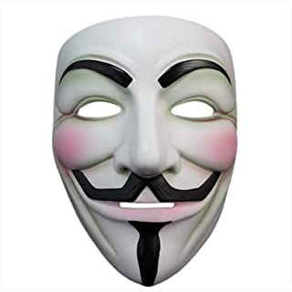 Halloween Masquerade Anonymous V for Vendetta Guy Mask with Sticker