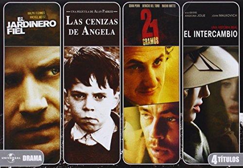 Cuadruple Drama: Jardinero Fiel + Cenizas De Angela + 21 Gramos + El Intercambio [DVD]
