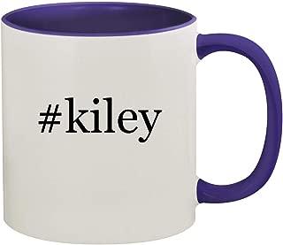#kiley - 11oz Hashtag Ceramic Colored Inside & Handle Coffee Mug, Deep Purple