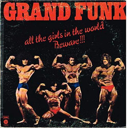 """Grand Funk Railroad - All The Girls In The World Beware !!! (ITA 1975 Capitol Records 3C 064-81811) LP 12""""."""