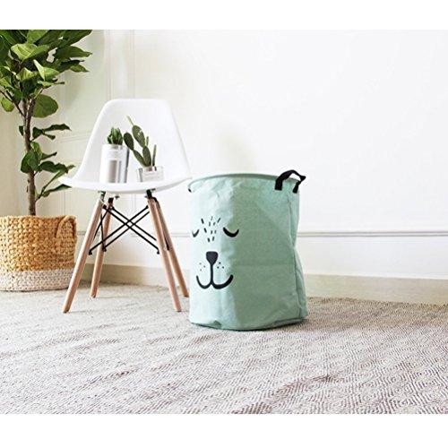 JameStyle26 - Cesto para la ropa sucia plegable (verde menta)