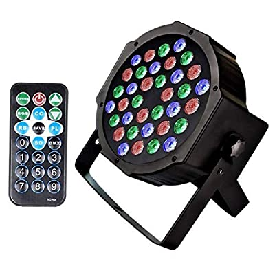 Stage Lights U`King 36 LEDs Strobe Lights 7 Lighting Modes DJ Light RGB Colourful Stage Lights (1 Pack)
